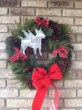 English Bull Terrier Angel, Dog Tree Topper, Wreath Decor, Christmas Decor