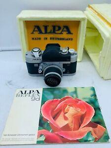 ALPA 9d SINGLE LENS REFLEX CAMERA WITH Kern-Macro-Switar AR 50mm f/1.8 Len