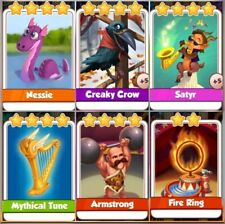 6 x Rare  Coin Master  Cards (fast Delivery)