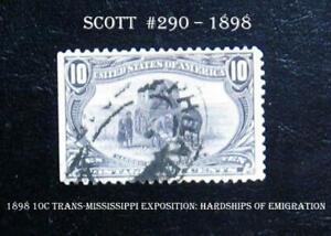 Scott #290 – 1898 10c Trans-Mississippi Exposition: Hardships of Emigration