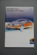 Car Brochure, VW Volkswagen 1996 Range Mk3 Golf Vento/Sharan/Polo/Passat
