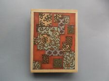 WHIPPER SNAPPER RUBBER STAMP DECO SQUARES NEW wood STAMP