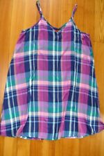 So Junior Summer Plaid Dress Size Large Preowned