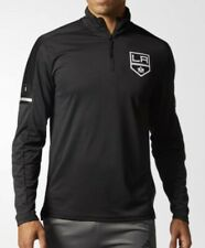 ADIDAS NHL Los Angeles Kings Authentic Pro 1/4 Zip Black Pullover Jacket Mens S