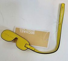 New Michael Kors Aviator Leather Purse Bag Handbag Charm, Canary
