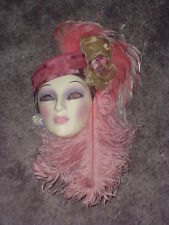 CLAY ART CERAMIC MASK..ROSE FANTASY..EXTREMELY RARE!