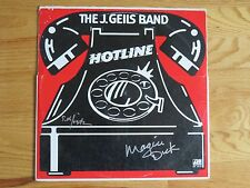SETH JUSTMAN and MAGIC DICK signed THE J. GEILS BAND 1975 HOTLINE Record / Album