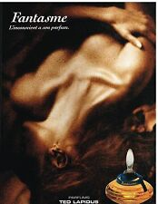 Publicité Advertising 1993 Parfum Fantasme par Ted Lapidus