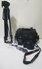 Canon EOS 2000d / Rebel T7 DSLR Camera and Tripod Bundle, Lightly Used