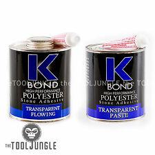 K BOND 1 Quart Solid Transparent Polyester  Solid Glue For Granite Stone Marble