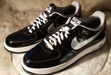 Nike Air Force 1 AF1 Low 2010 All Star Game Texas Mens Sz 15 Patent Black Clean