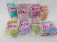 Full Set of 8 ~ 1992 McDonald's Happy Meal Toys ~ Barbie With Hair You Can Style