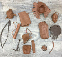 Vtg 1974 MARX Best of the West Geronimo Indian Figure Accessories Parts Lot A