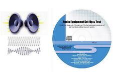 FR Configuration de L'équipement Audio et CD de Test