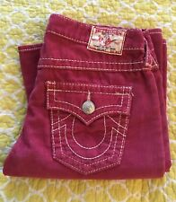 True Religion JOEY Big T Corduroy Jeans, 29, NWOT