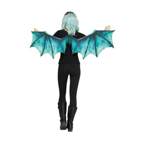 Dragon Wings Mythical Creature Halloween Blue Wings Si-Fi Fancy Dress Accessory