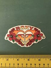 AWESOME! Authentic Roxy TEAM Sticker Clear Black LARGE