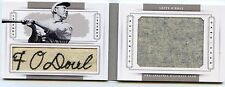 2014 Panini National Treasures Francis Lefty O'Doul Jersey ID Tag Patch 1/1 book
