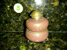 Vintage Stacking Open Salt Bowl Cellar & Pepper Shaker Set Brass #3