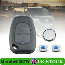 For Renault Trafic Kangoo Master 2 Button Key Fob Case Repair + CR1220 Battery