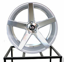 20X9 5X114.3 STR 607 SILVER MACHINE FACE HONDA DODGE TOYOTA CHEVY