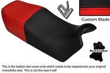 Negro & Rojo Brillante Personalizada Fits Yamaha Fj 1100 84 a 86 Doble Cuero Funda De Asiento