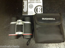 Bushnell Powerview 4x30 Binoculars Black Red  with case / manual