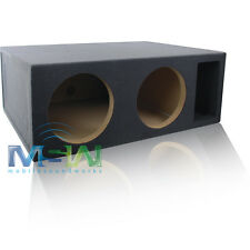 "5 CU. FT. CUSTOM-VENTED DUAL 12"" MDF CAR SUBWOOFER BOX ENCLOSURE - TUNED @ 34Hz"