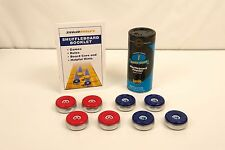 8 NEW LARGE AMERICAN SHUFFLEBOARD TABLE PUCKS / WEIGHTS + 2 BONUSES