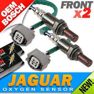 2PC - Jaguar OXYGEN SENSORS > FRONT/UPPER-LEFT & RIGHT Genuine Bosch OEM O2  02