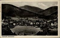 Bad Herrenalb Schwarzwald Postkarte 1942 gelaufen Gesamtansicht Panorama