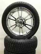 Set of (4) ITP 14 SS Chrome Golf Cart Car Rim Wheels & Tires Mounted