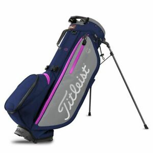Titleist 2019 Players 4 Plus Stand Bag (4-way top, Navy/Gray/Magenta) NEW