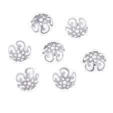 200 PCS 10mm Quality Tone Flower Bead Caps Findings Silver Gold DIY Free P&P UK
