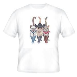 Nature Pets Animals T-shirt Cat Cats Kitten Kittens Cowboy Front Back