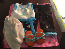 American Girl doll weekend fun outfit retired - with necklace and bracelet!