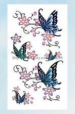 US Seller- face decor stickers flower butterfly temporary tattoo