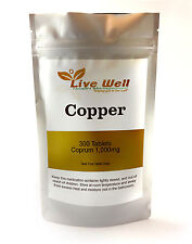 Live Well Copper Tablets 8mg : 100% RDA for Immune Health & General Wellbeing