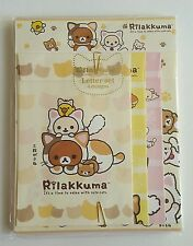 HTF San-x Rilakkuma Cute Cats Jumbo Kawaii Letter Set Stationery Japan