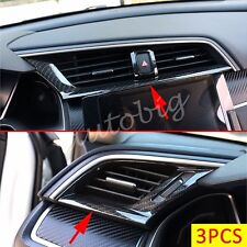 Carbon Fiber Dashboard Air Vent Cover For Honda Civic 10th 2016 2017 Interior
