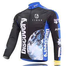 Discovery Channel Long Sleeve Men's Cycling Jerseys MTB Road Bicycle Jersey Tops