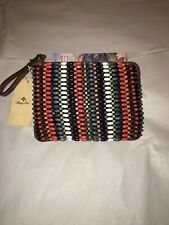 *NWT* PATRICIA NASH~ BROWN LEATHER MULTI BEADED CASSINI WRISTLET CLUTCH BAG $89