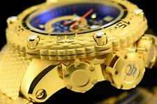 Invicta Men 51mm Special Subaqua Noma Chrono 18K Gold Plated Blue Dial Watch