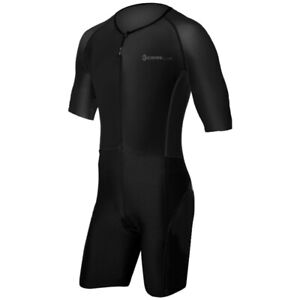 TRISUIT SPORTSWEAR MEN TRIATHLON SUIT WITH SLEEVES RUNNING/SWIMMING/CYCLING