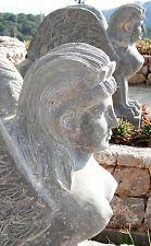 Marmo pietra Sphinx donna ragazza ala Leone Giardino Parco Scultura Figura Antica
