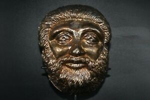 Antique Roman Gold Gilded Silver Mask for Parade or Death Soldier 2nd Century AD