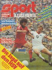 Sport Illustrierte  Nr.4 April 1983 Die Jagd auf den HSV, mit Poster KH Förster
