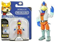 "Jakks World of Nintendo - Star Fox - Falco Lombardi Action Figure 4"" Inches NEW"