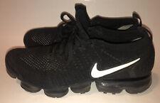 Nike Air Vapormax Flyknit 2 - 942842-001 Black White Men Size 10.5 Running Shoes