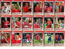 Liverpool 2001 tarjetas comerciales FÚTBOL Copa UEFA ganadores